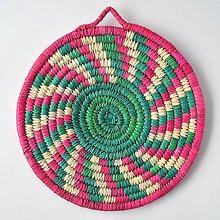 Pomôcky - PINKY1 Ručne pletená podložka z palmových listov - 9328269_