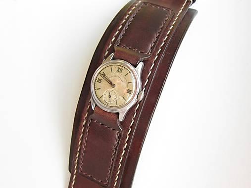 87fe5460d Kožený remienok na vintage hodinky / leon - SAShE.sk - Handmade Náramky