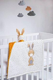 Textil - Deka so zajkom smotanovo-horčicová - 9325420_