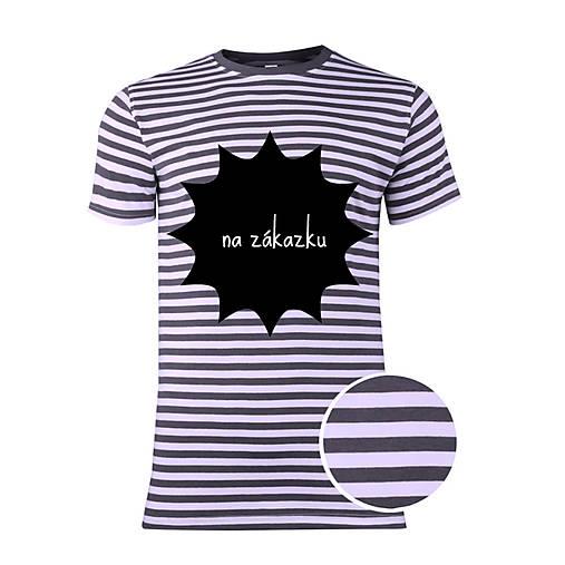 a09e7fd2e0d8 Pánske pásiakvé tričko na zákazku   ele-ele - SAShE.sk - Handmade Tričká