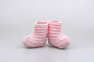 Topánočky - VÝPREDAJ! Bledoružové čižmy EXTRA FINE - 9325218_