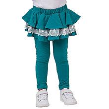 Detské oblečenie - točivé sukňolegíny GREEN LACE - 9327827_