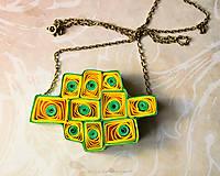 Náhrdelníky - Quilling náhrdelník svieži - 9325000_