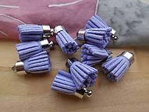 - Mini strapčeky - pár (Fialová) - 9326183_