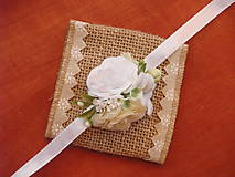 Náramky - Smotanovo-biele náramky na ruku - 9326144_