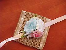 Náramky - Náramky na ruku - modrá, biela a ružová - 9326157_