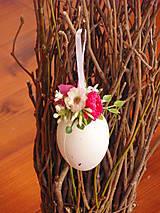 Dekorácie - Veľkonočné vajíčko - cyklamenové - 9326178_