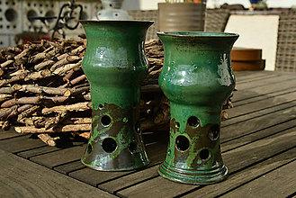 Nádoby - Vínové zelené (poháre) - 9325357_