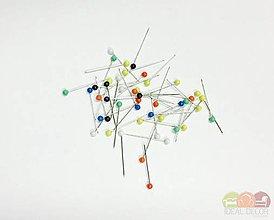 Galantéria - 1102 Špendlíky mix 40 ks - 9327753_