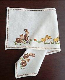 Úžitkový textil - Vyšívané prestieranie -  veľkonočné (4) - 9324326_