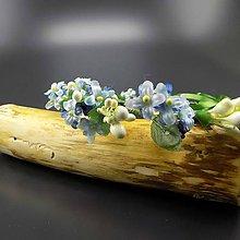 Ozdoby do vlasov - Spring Blue ... věnec - 9329234_