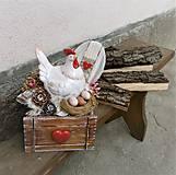 Dekorácie - Veľkonočná dekorácia s kohútikom - 9331730_