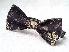 Doplnky - Kvetinový vintage pánsky motýlik - 9330809_
