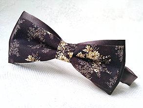 Doplnky - Kvetinový vintage pánsky motýlik - 9330847_
