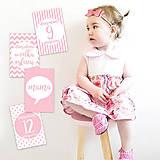 Detské doplnky - Miľníkové kartičky Ballerina 24ks - 9328759_