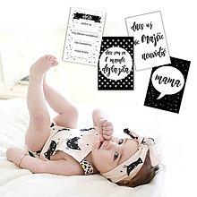 Detské doplnky - Miľníkové kartičky Scandi 24ks - 9328800_