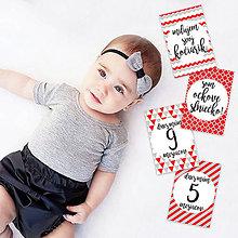Detské doplnky - Miľníkové kartičky RedHood 24ks - 9328843_