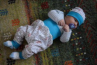 Detské oblečenie - čiapočka + turky pre Pánka- veľ. 86 - 9331589_