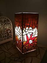 Svietidlá a sviečky - Mozaiková lampa...Kvetiny letnej noci - 9332555_