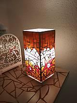 Svietidlá a sviečky - Mozaiková lampa...Kvetiny letnej noci - 9332556_