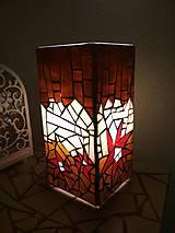 Svietidlá a sviečky - Mozaiková lampa...Kvetiny letnej noci - 9332557_