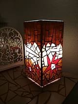 Svietidlá a sviečky - Mozaiková lampa...Kvetiny letnej noci - 9332558_