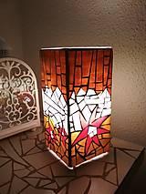 Svietidlá a sviečky - Mozaiková lampa...Kvetiny letnej noci - 9332559_