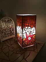 Svietidlá a sviečky - Mozaiková lampa...Kvetiny letnej noci - 9332560_
