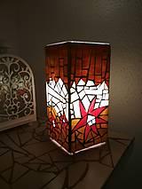 Svietidlá a sviečky - Mozaiková lampa...Kvetiny letnej noci - 9332561_