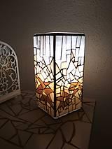 Svietidlá a sviečky - Mozaiková lampa...Alpské kvetiny - 9332593_