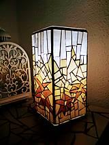 Svietidlá a sviečky - Mozaiková lampa...Alpské kvetiny - 9332594_