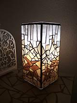Svietidlá a sviečky - Mozaiková lampa...Alpské kvetiny - 9332595_