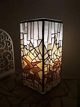 Svietidlá a sviečky - Mozaiková lampa...Alpské kvetiny - 9332596_