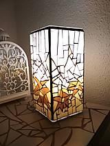 Svietidlá a sviečky - Mozaiková lampa...Alpské kvetiny - 9332597_
