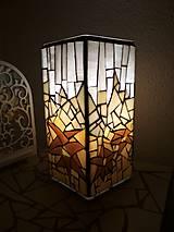 Svietidlá a sviečky - Mozaiková lampa...Alpské kvetiny - 9332598_