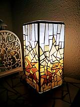 Svietidlá a sviečky - Mozaiková lampa...Alpské kvetiny - 9332599_