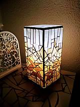 Svietidlá a sviečky - Mozaiková lampa...Alpské kvetiny - 9332600_