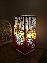 Svietidlá a sviečky - Mozaiková lampa...Alpské kvetiny - 9332644_