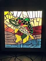 Svietidlá a sviečky - Mozaiková lampa / panel FISH - 9332751_