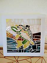 Svietidlá a sviečky - Mozaiková lampa / panel FISH - 9332752_