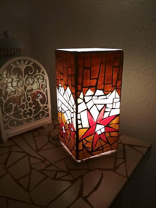 Mozaiková lampa...Kvetiny letnej noci