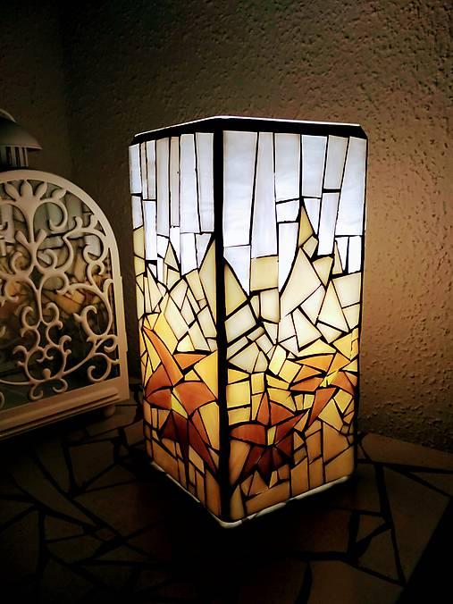 Mozaiková lampa...Alpské kvetiny