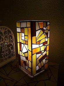 Svietidlá a sviečky - Mozaiková lampa...Západ slnka nad Saharou - 9332662_