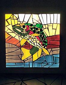 Svietidlá a sviečky - Mozaiková lampa / panel FISH - 9332750_