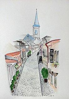 Obrazy - Mesto Košice  ilustrácia / originál maľba  - 9330267_