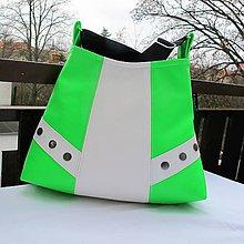 Kabelky - Dívčí - dětská kabelka * NEON * GREEN-WHITE * PARROT® - 9329998_