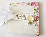 Papiernictvo - svadobná kniha hostí na želanie - 9328616_