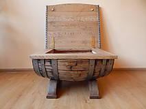 Nábytok - Sudový stolík (Wine barrel table)  (1.) - 9330147_