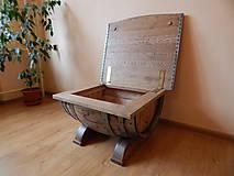 Nábytok - Sudový stolík (Wine barrel table) - 9330150_