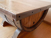Nábytok - Sudový stolík (Wine barrel table) - 9330155_